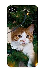 Forever Collectibles Animal Cat Hard Snap-on Iphone ipod touch4 Case With Design Made As Christmas's Gift