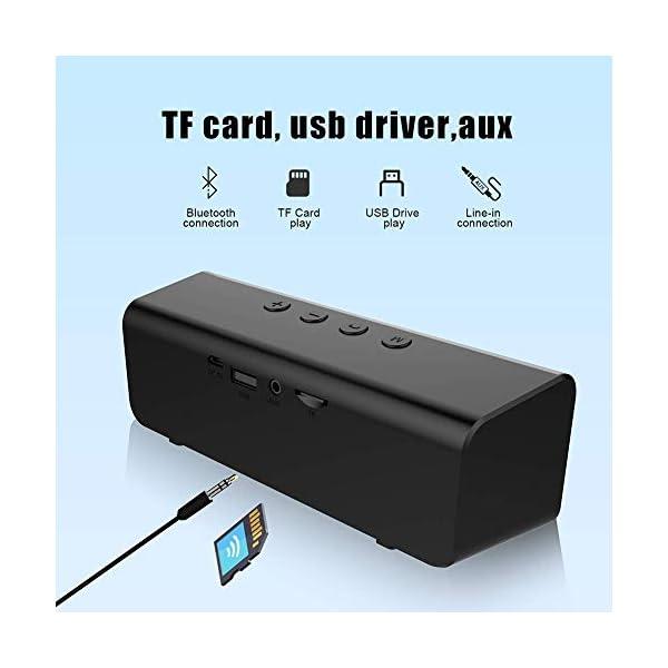 Enceinte Bluetooth Portable, Mini Haut-Parleur Bluetooth Enceinte Portable sans Fil, avec Universel Support, Compatible Android iOS et Autres Appareil (C-Noir) 2