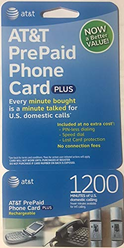 AT&T 1200 Minute Prepaid Phone Card (Calling Card) (Best International Calling Card Rates)