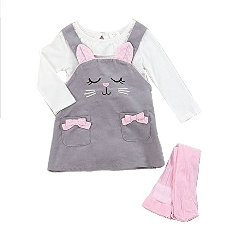Youngland Kitty Face 3pc. Jumper Set 12 (Face Jumper Set)