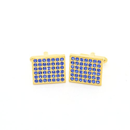 Ferrecci Goldtone Royal Blue Gemstone Cuff Links With Jewelry (Gemstone Gold Cufflinks)