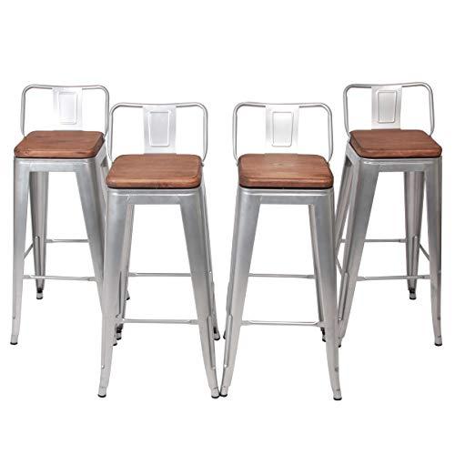 Amazoncom Changjie Furniture 30 Inch Swivel Metal Bar Stool Stack