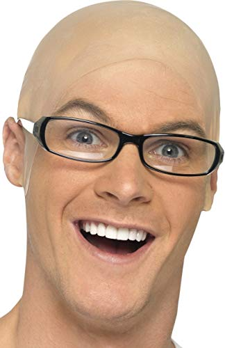 Mens Bald Head Skull Cap Hairless Wig Grandad