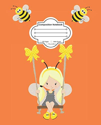 Yes, I am a Bee Girl: Cute Composition Notebook Wide Ruled -