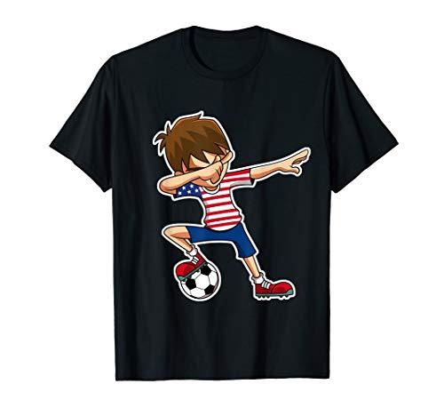 Dabbing Soccer Boy USA Shirt United States Jersey Boys Youth