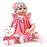 "Sweet Collection Lifelike Realistic Reborn Baby Doll 22"" Handmade 7-Piece Gift Set Soft Vinyl Pretty Dress Girl, Birthday&Xmas Gift"