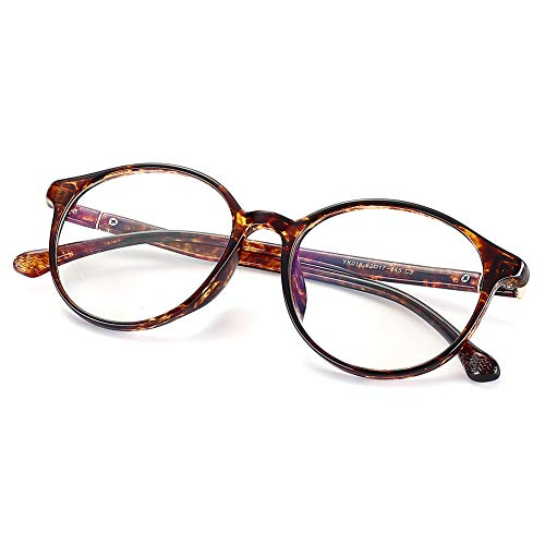 Fake Glasses Vintage Round Eyewear Frame Unisex Stylish Non-prescription Clear Lens Eyeglasses Fashion Glasses for Women Men ()