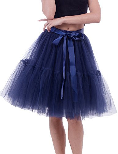 Blue 2 Satin Skirt - 9