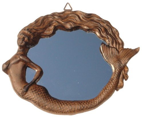 Cast Iron Vintage Antique Rep Mermaid Wall Mirror Nautical Beach Coastal Decor
