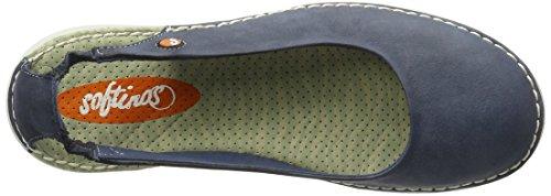 Softinos Tor384SOF, Bailarinas para Mujer Azul (Navy)