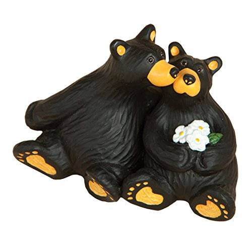 (BLACK FOREST DECOR Daisy Kiss Bear Figurine)