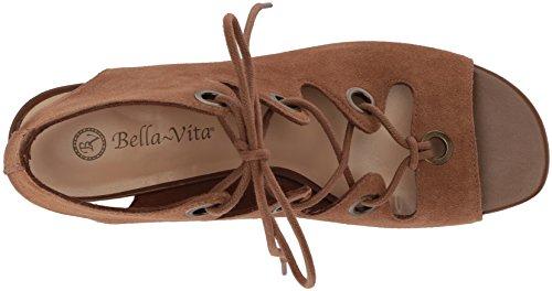 Bella Vita Women's Ingrid Wedge Sandal Cognac Suede M4XQa2