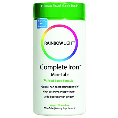 Rainbow Light Complete Iron System Food-Grown Iron Supplement Tablets  60 Count Bottle (Iron Tablets)