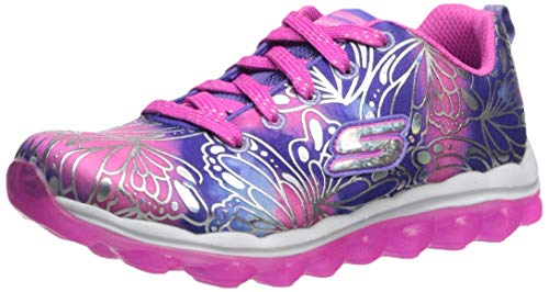 Skechers Kids Girl's Skech-AIR-Flutter Spark Shoe, Blue/neon Pink, 1 Medium US Little Kid ()
