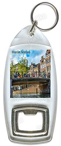 Llavero con abridor de botellas de recuerdo de Ámsterdam ...