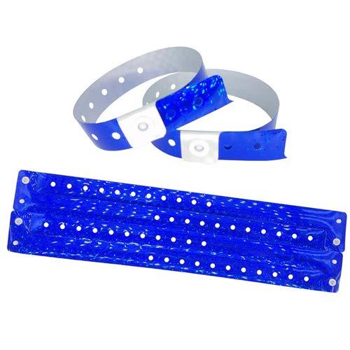 100 braccialetti in plastica per eventi personalizzabili e impermeabili rosso