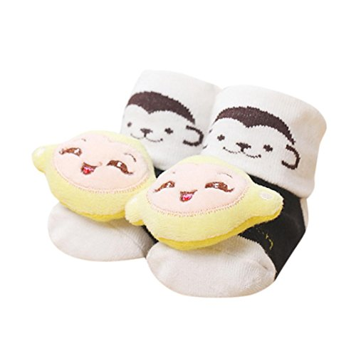 Price comparison product image Tenworld 0-6 Months Newborn Baby Anti-Slip Socks Slipper Shoes Booties (D)