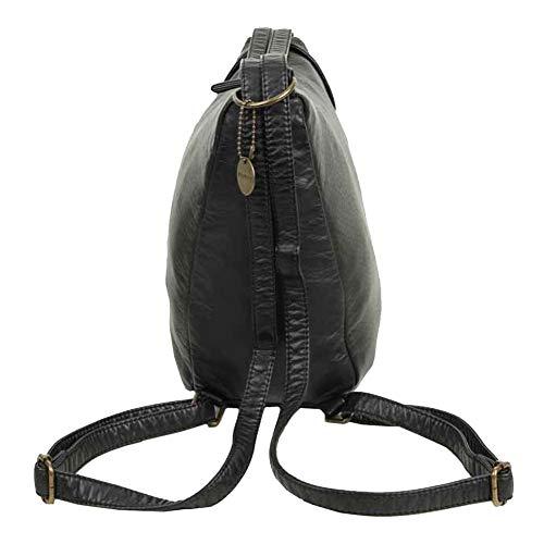 tracolla a Satchel nera a Convertible tracolla Joia Borsa tracolla borsa con per XSay1q