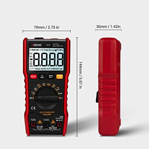 HYY-YY Digital multimeter portable automatic range universal meter with backlight electric multifunction instrument