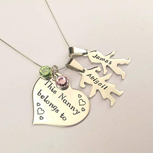 Grandma Personalised This Nanny Belongs to necklace Granny Gift for Nanny Nan Birthday Gift Present