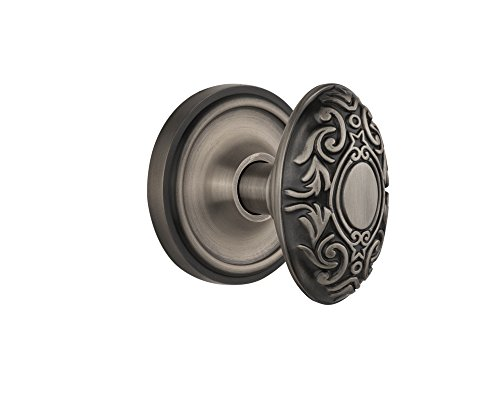 Nostalgic Warehouse BN22-CLAVIC-AP Classic Rosette with Victorian Double Dummy Knob, Antique Pewter