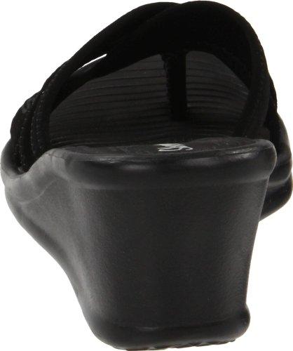Skechers Women's Cali Sandal Beautiful People Black Wedge Rumblers aaqf8xrw