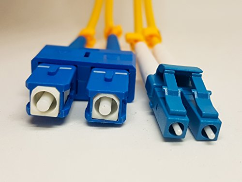 lc to sc SingleMode 3M Duplex fiber optic patch cable.Israeli Cutting Edge Technology, LC/SC Duplex 9/125 3M (9.84ft),Single Mode Fiber Cables LC To SC, 3MM Yellow PVC.