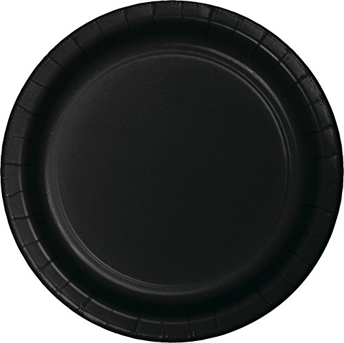 Creative Converting 75-Count Value Pack Paper Dessert Plates, Black Velvet - 753260B