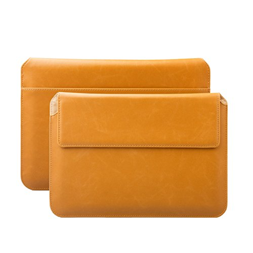 MacBook Pro 15 Case | suitably for from 14.0 to 15.6 inches Laptop Notebook | Buffalo caramel | iCues Piquante Cover | other leather and colour variations available Sleeve Envelope Bag (Best 15 Laptop)