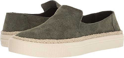 (TOMS Women's Sunset Suede Slip-On, Size: 8.5 B(M) US, Color: Pine Suede/Rope)