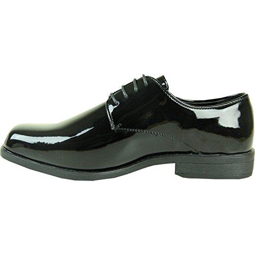 Vangelo Mens Tuxedo Shoes Tux-1 Antiriflesso Scarpe Da Cerimonia Formali Oxford Black Patent 8w