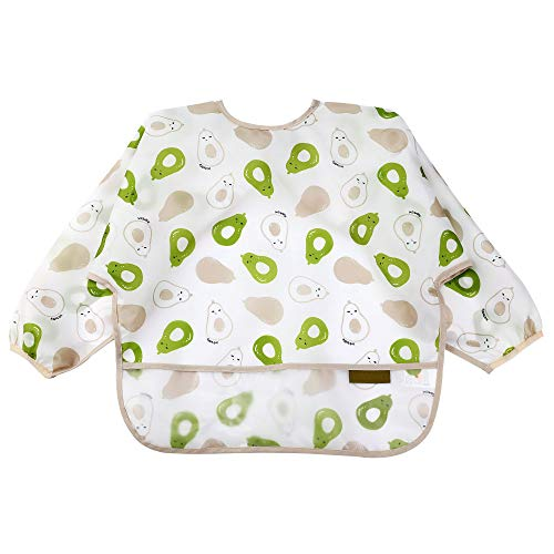 Waterproof Baby Smock With Sleeves-Toddler Soft Bib For 6-36Months-Wipe Cleaned