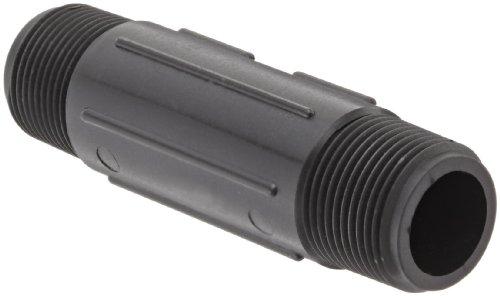 Banjo NIP075-4 Polypropylene Pipe Fitting, Nipple, Schedule 80, 3/4 NPT Male x 4 Length