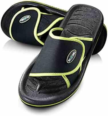 470e0613b Roxoni Men's Comfortable Non Slip Flip Flop Shower Shoe Adjustable Beach  Slide Sandal Slipper