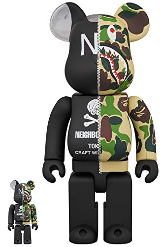 A BATHING APE(R) × NEIGHBORHOOD(R) BE@RBRICK 100% & 400% B07MJ3PN8L