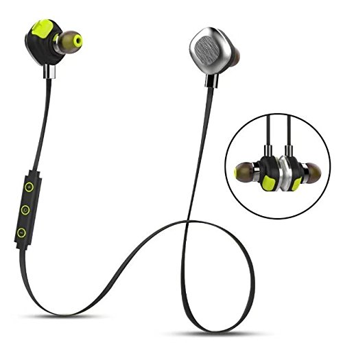 Morul U5PLUS Magnetic Sport Waterproof Bluetooth In-ear Headphones with Mic, Black by mifo