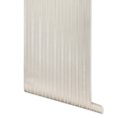 Boudin Stripe, Ivory Textured Wallpaper for Walls - Double Roll - Romosa Wallcoverings AH7053