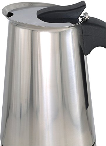 Stovetop Espresso Maker with Coffee Percolator Design - by Mixpresso (10 Ounces, 6 Cup)