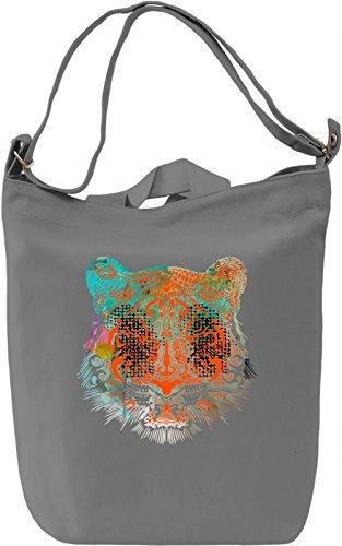 Psychedelic Tiger Borsa Giornaliera Canvas Canvas Day Bag| 100% Premium Cotton Canvas| DTG Printing|