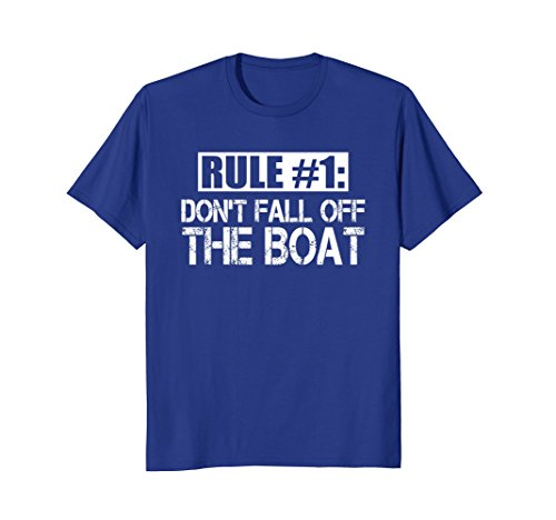 Mens Funny Cruise T Shirt Rule #1 Don't Fall Off The Boat Tee XL Royal Blue (Ships Cruise Caribbean Royal)