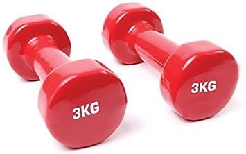 TNP Accessories Hierro Fundido Vinilo Levantamiento Pesa Juego Pesos Ejercicio Gimnasia Pilates - Rojo - Rosso: Amazon.es: Deportes y aire libre