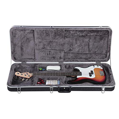 Yaheetech ABS Electric Guitar Case Elegant Hardshell Bass Case for Strat/Telecaster Style Flight with Lock Latch Keys Black by Yaheetech (Image #2)