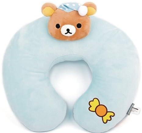 Rilakkuma nuevo saco de dormir cojín para pintura de cara de oso de peluche con diseño de mi/W night gorra San X: Amazon.es: Hogar