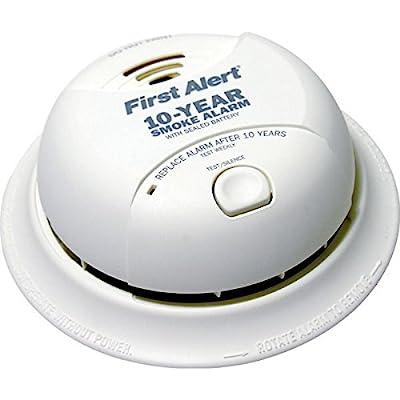 BRK SA350B - Smoke Alarm - Dual Ionization Sensor - Detects Flaming Fires - Battery Operated - Sealed Lithium Battery