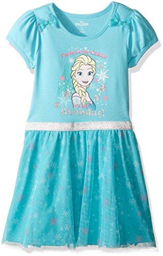 Disney Little Girls' Toddler Frozen Elsa Birthday Dress, Green, 3T (Toddler Frozen Dress)