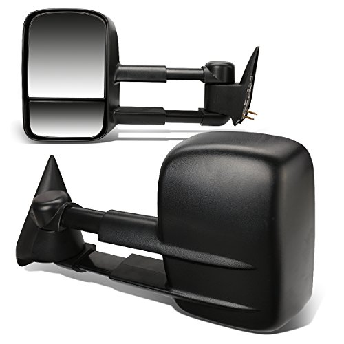 DNA Motoring TWM-001-T222-BK Pair of Towing Side Mirrors (Driver & Passenger Sides)