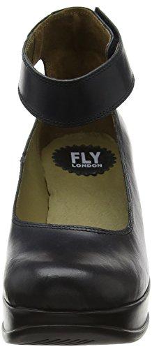 Fly London Heli797fly, Scarpe con Cinturino alla Caviglia Donna Nero (Black)