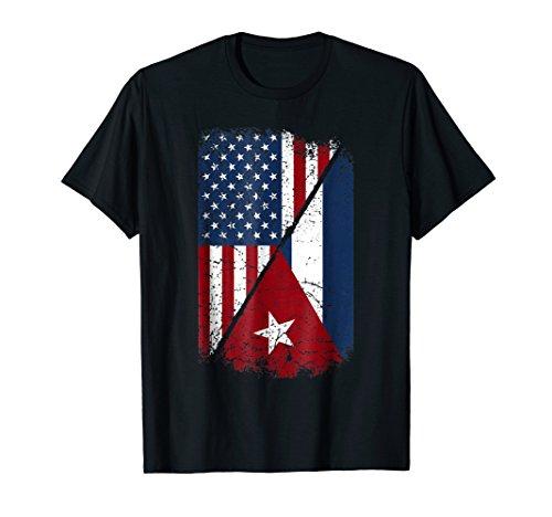 Cuba American Flag Shirt - Cuban American Gift (Kids Cuban Shirt)