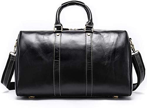 紳士ハンドバッグ ミニマルファッションレザーバッグショルダーバッグトートバッグショルダーバッグジムスポーツ荷物バッグは、バッグキャリーオンボストンバッグメンズ旅行大容量 便利で多用途 (色 : Coffee, Size : 43x24x29cm)