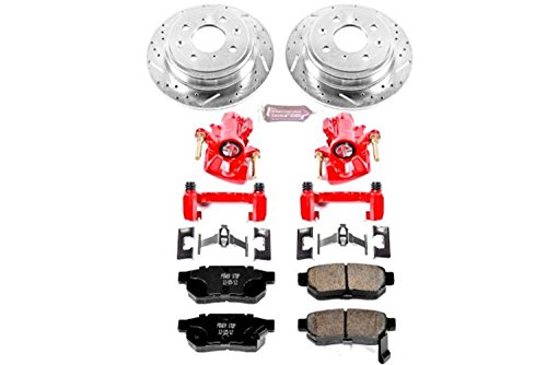 Power Stop KC408 1-Click Performance Brake Kit with Caliper, Rear Only ()